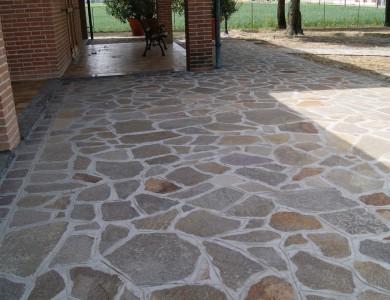 Porfido bergamo frusta per impastare cemento - Vialetti giardino in porfido ...